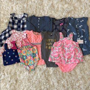 10 Piece Girls Dress Romper Lot